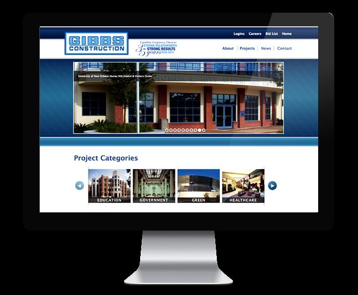 Gibbs Construction Web Design