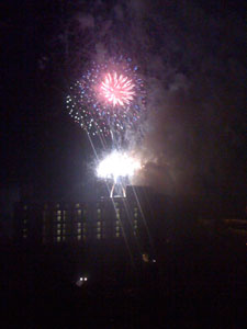 Stunning fireworks above the ABC Conference in Destin, Florida.