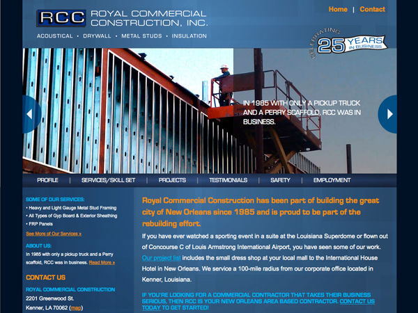 Royal Construction Company Website Brand Constructors Brand Constructors