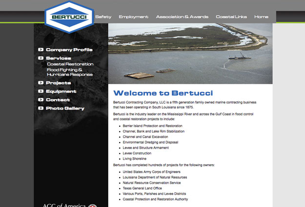 Bertucci Construction Corporation Website