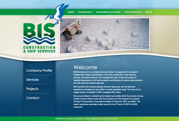 BIS Construction & Ship Services Website