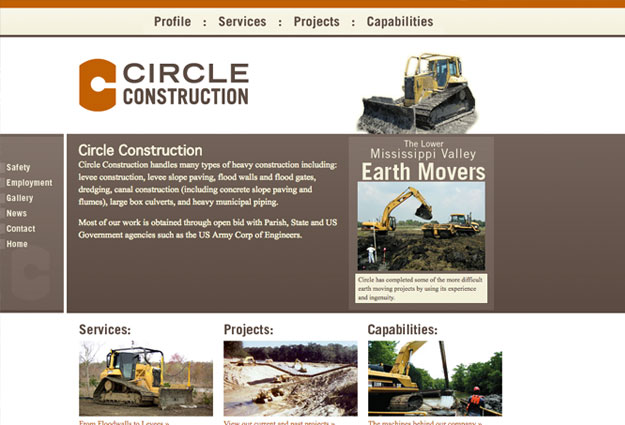 Circle Construction Website