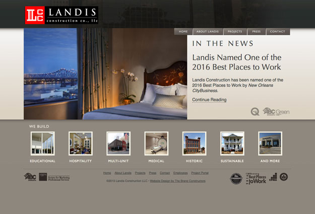 Landis Construction Website