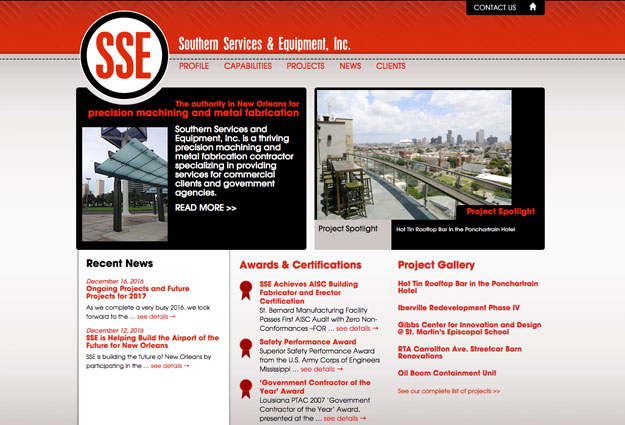 Southern Services & Equipment Website