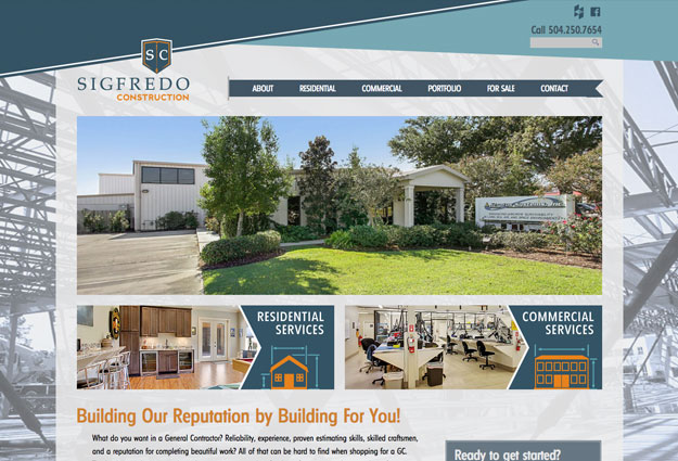 Sigfredo Construction Website
