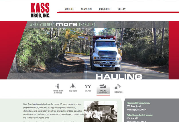 Kass Bros. Construction Website
