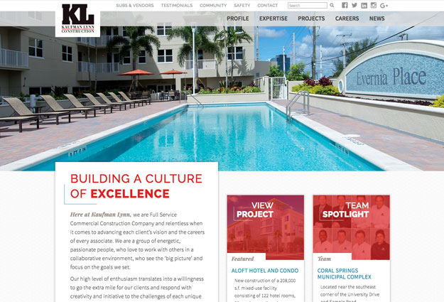 Kaufman Lynn Construction Website