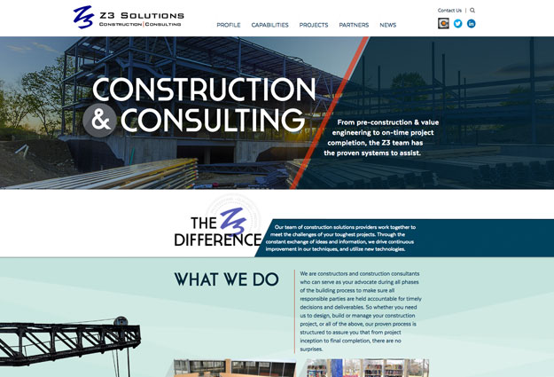 Z3 Construction Solutions Website
