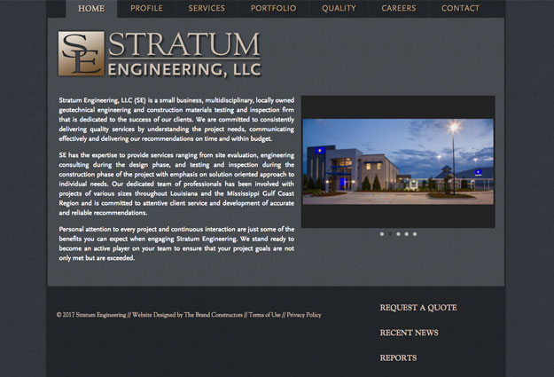 Stratum Engineering Website