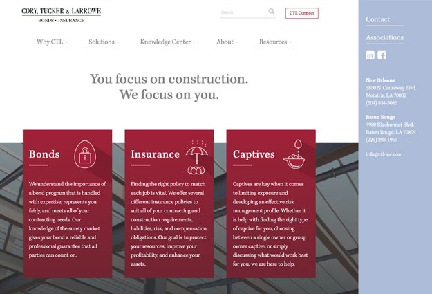 Cory, Tucker & Larrowe Website