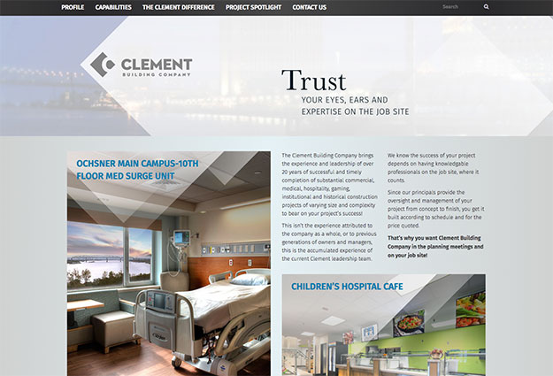 Clement Building Company Website